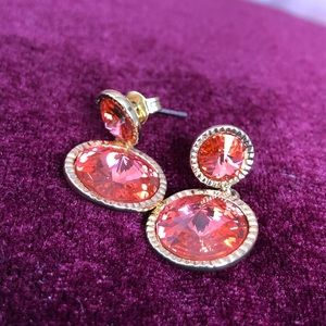 Ted Baker London Crystal Drop Earrings -Gold/Red